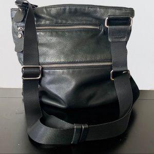 Margot Leather Crossbody Bag Purse Black
